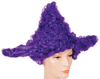 Star Clown Wig - Purple