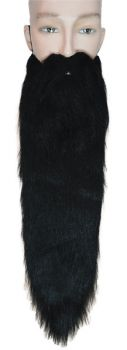 Hillbilly Beard Long Wig - Black