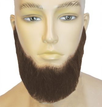 Full-Face Beard - Human Hair - Medium Brown
