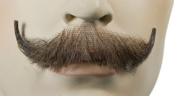 English Mustache - Human Hair - Light Chestnut Brown