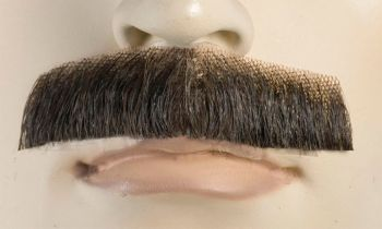 Mustache M3 - Human Hair - Light Chestnut Brown