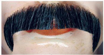 Villain M1 Mustache - Blend - Dark Brown 75% Gray