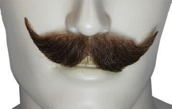 M204 Mustache - Human Hair - Medium Brown Red