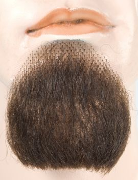 1-Point Goatee - Human Hair - Medium Brown