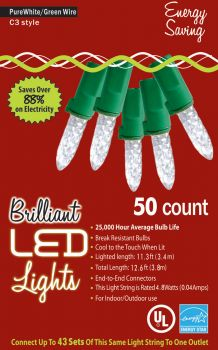 50-Count C3 Holiday Lights - Pure White