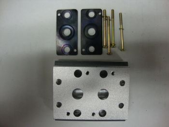 Manifold for 4-Way Solenoid Valves with 1/4 Inch Ports