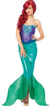 Women's Mermaid Deep Sea Siren Costume - Adult Large