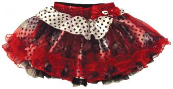 Mh Petticoat Red Blk Dots Whit