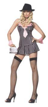 Women's Miss Mafia Costume - Adult M/L