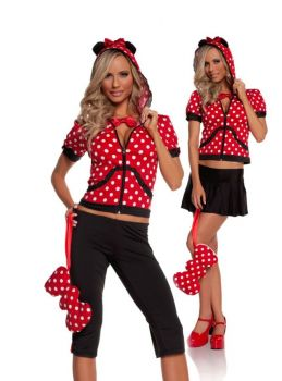 Women's Miss Mouse Costume - Adult M (6 - 10)