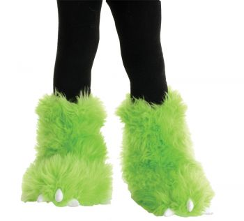 Girl's Monster Boot Tops - Neon Green