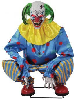 Crouching Clown Blue Animated