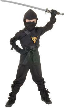 Boy's Ninja Costume - Black - Child S (4 - 6)