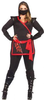 Women's Plus Size Ninja Assassin Costume - Adult 1X/2X