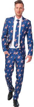 Men's USA Stars & Stripes Suit - Adult S (34 - 36)