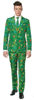Men's Christmas Tree Green Suit - Adult S (34 - 36)