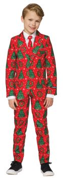 Boy's Red Christmas Suit - Child S (4 - 6)