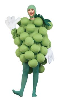 Grapes Costume - Green - Adult OSFM