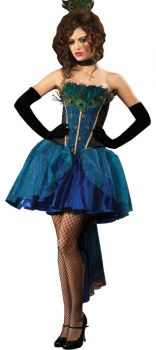 Women's Deluxe Peacock Princess Costume - Adult Small