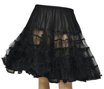 Knee-Length Petticoat - Black
