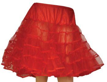 Petticoat Red Knee Length