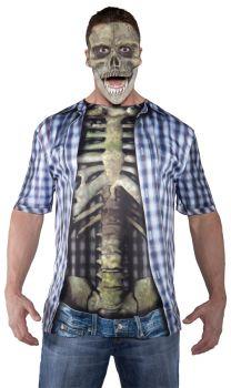 Photo Real Shirt Skeleton Adul