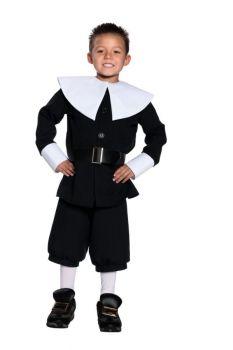 Boy's Pilgrim Costume - Child S (4 - 6)