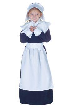 Girl's Pilgrim Girl Costume - Child S (4 - 6)