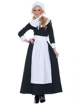 Women's Pilgrim Woman Costume - Adult X-Large