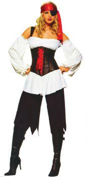 Women's Pirate Costume - Adult Medium