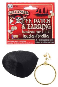 Pirate Patch And Earring