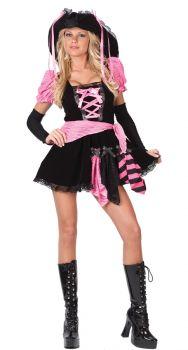 Women's Pirate Pink Punk Costume - Adult M/L (8 - 14)