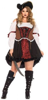 Women's Plus Size Ruthless Pirate Wench Costume - Adult 1X/2X
