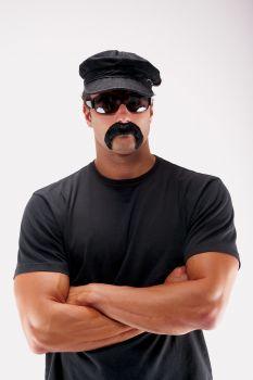 The Biker Mustache - Black