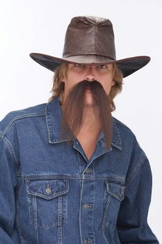 The Western Mustache - Brown