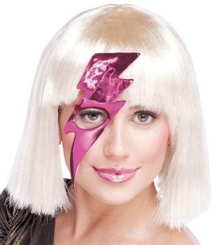 Women's Lightning Bolt Mask - Hot Pink