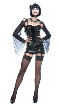 Women's Midnite Mistress French Kiss Costume - Adult XS (0 - 2)
