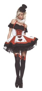 Women's Pretty Playing Card Costume - Adult M/L