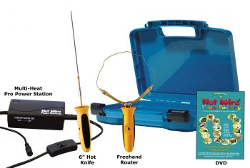 "Pro 6"""" Hot Knife & Freehand Router Kit with Multi-Heat Pro Power Station"