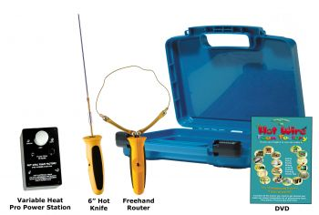 "Pro 6"" Hot Knife & Freehand Router Kit with Variable Heat Pro Power Station"