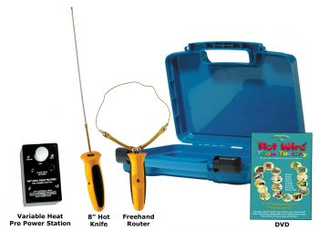 """Pro 8"""" Hot Knife & Freehand Router Kit with Variable Heat Pro Power Station"""