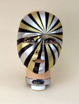 Psycho Full Mask Blck Gold Slv