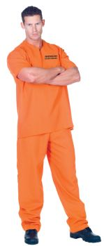 Men's Public Offender Costume - Adult OSFM