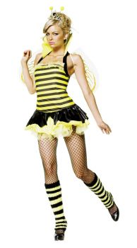 Queen Bumble Bee Sexy 4 Pc Xsm
