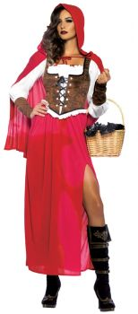 Women's Woodland Red Riding Hood Costume - Adult Large