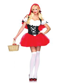 Women's Racy Red Riding Hood Costume - Adult X-Large