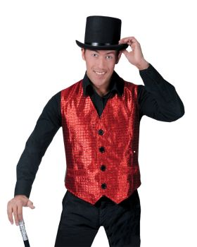 Shiney Vest Adult - Red - Adult M (42 - 44)