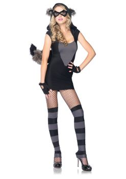 Women's Risky Raccoon Costume - Adult S/M
