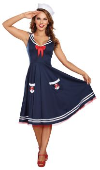 Women's All Aboard Costume - Adult S (2 - 6)