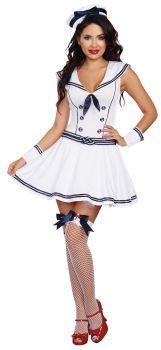Boat Rockin Babe Costume - Adult S (2 - 6)